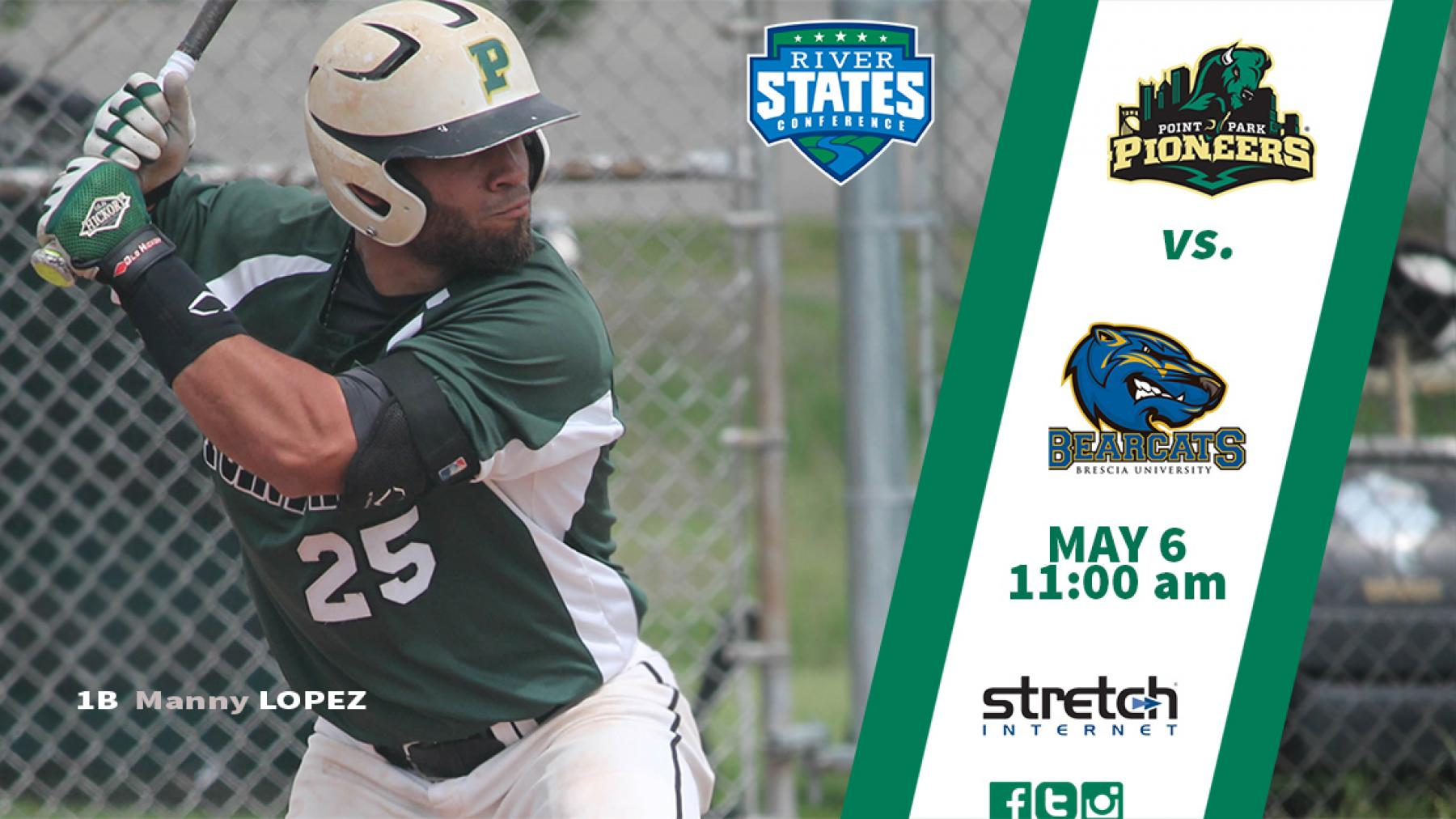 GAMEDAY: @PPUBaseball vs. Brescia (11 a.m.) -- RSC Tournament First Round