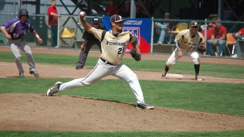 Horacio Acosta pictured at the NAIA World Series in 2012. (PPU Athletics Photo).