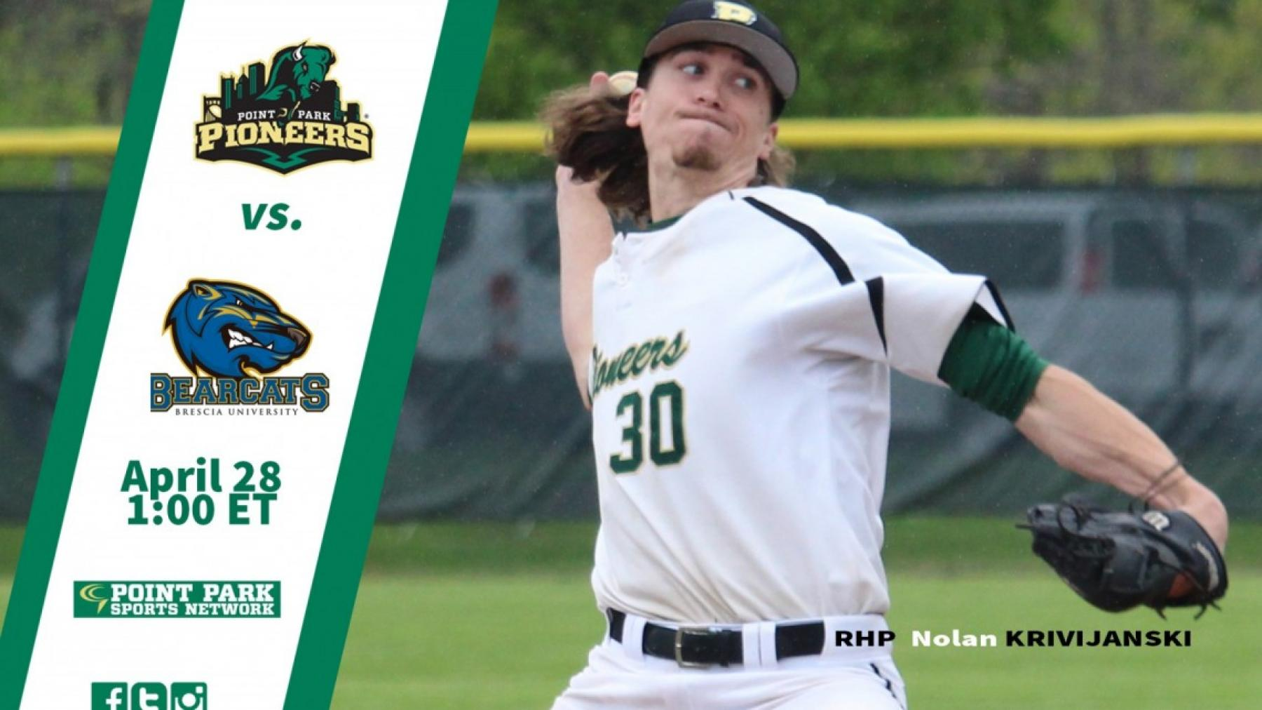 GAMEDAY: @PPUBaseball hosts Brescia Friday at 1 pm ET (DH)
