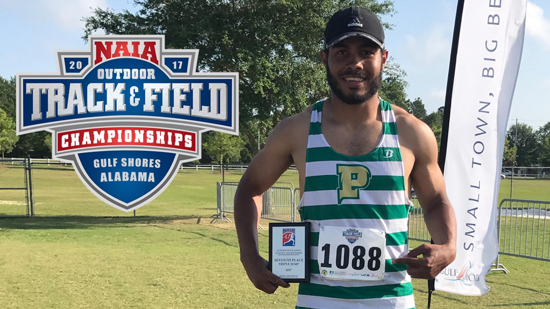 Point Park's Jryi Davis earns NAIA All-American in Triple Jump