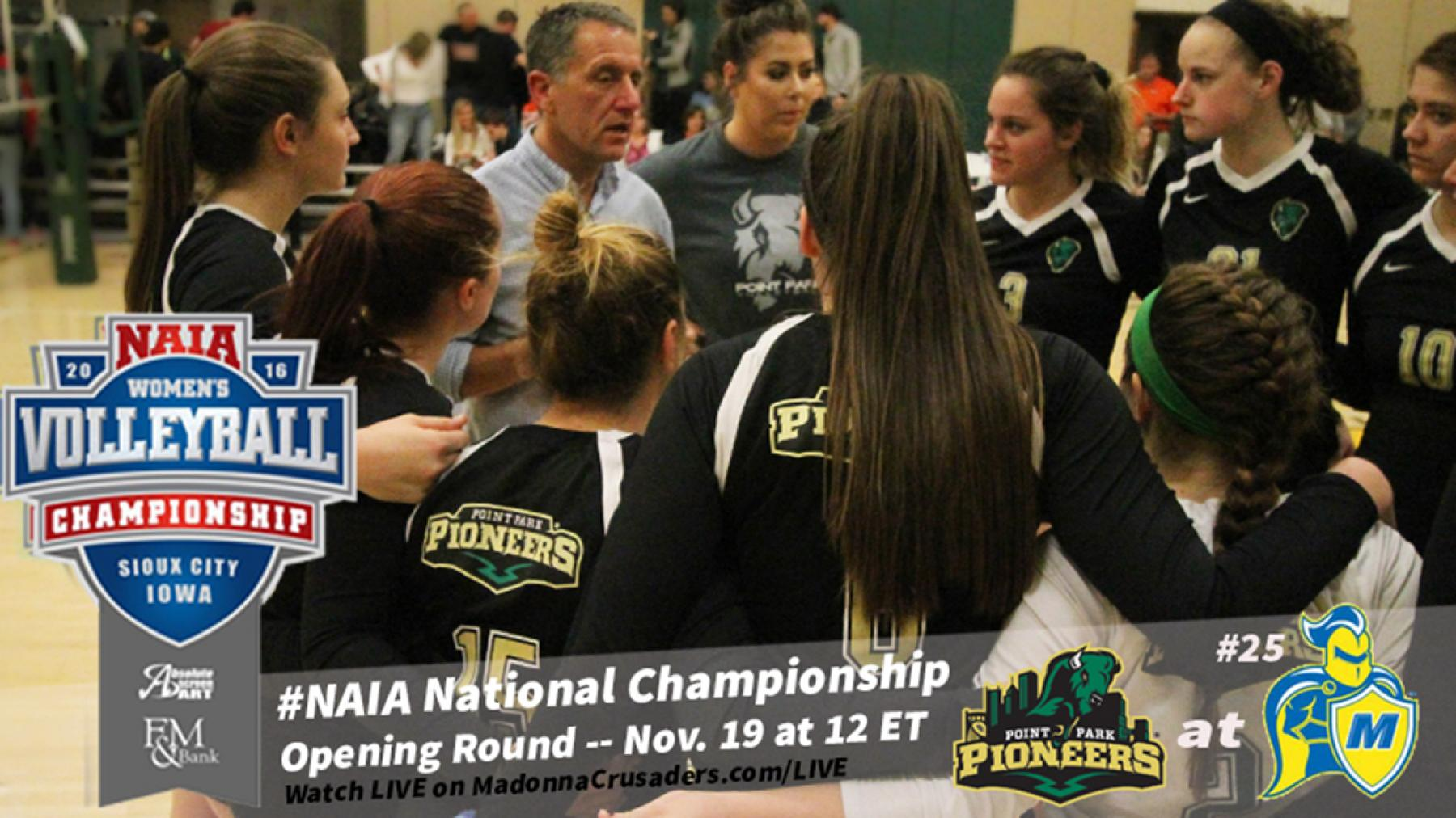 Point Park comes up short at No. 25 Madonna in NAIA Volleyball Opening Rd