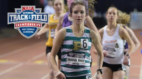 Anna Shields pictured competing at the NAIA Indoor T&F National Championships March 2-5. (Photo by NAIA).