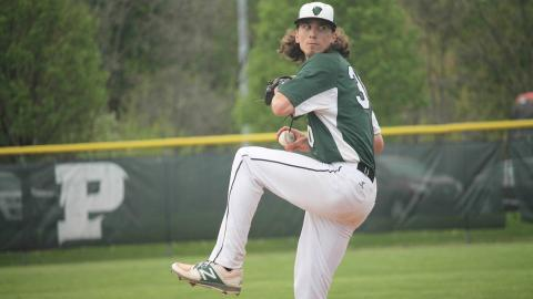 Nolan Krivijanski pitched 8.0 innings in the win over Brescia. Photo by Sam Robinson.