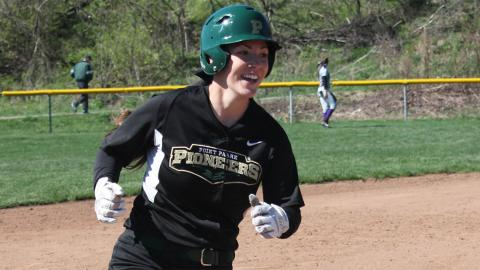 Point Park junior Kim Corcoran nabbed NAIA Scholar-Athlete honors. Photo by Sam Robinson
