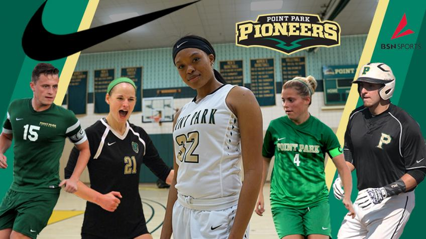 Point Park athletics partners with Nike and BSN Sports as official apparel providers of the Pioneers
