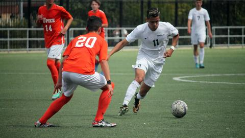 Alan Ramos scored two more goals versus UPike. Photo by Sam Robinson.