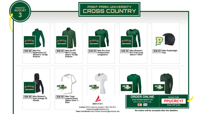 NOW OPEN! #PPUXC Online Team Store! Shop Now Thru Aug. 3